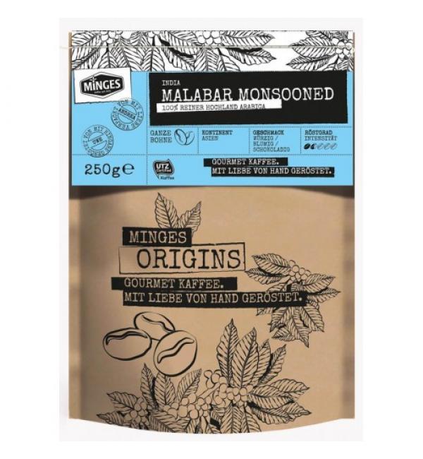 Кофе зерновой Minges India Malabar 250г