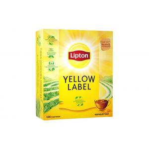 Чай черный Lipton Yellow Label 200г (100 пак.)