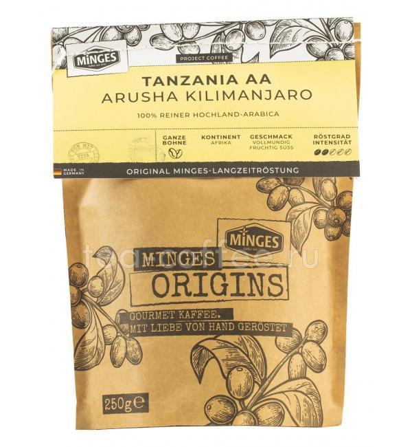 Кофе зерновой Minges Tanzania 250г