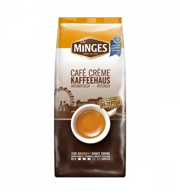 Кофе зерновой Minges Café Crème Kaffeehaus 1кг