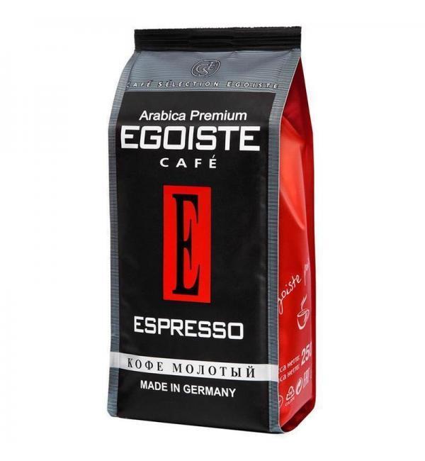 Кофе молотый Egoiste Espresso 250г