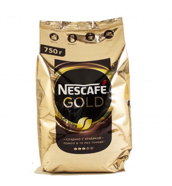 Кофе растворимый Nescafe Gold 750г