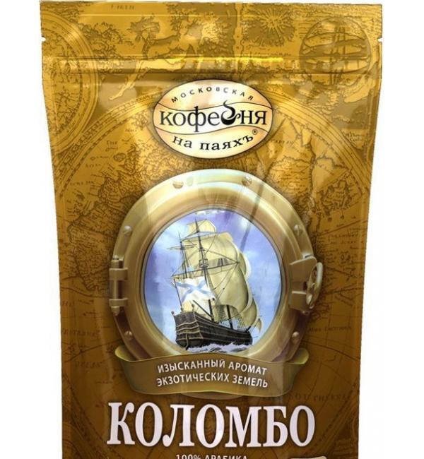 Кофе растворимый Московская кофейня на Паях Коломбо 190г