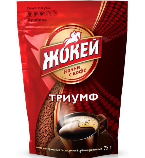 Кофе растворимый Жокей Триумф 75г