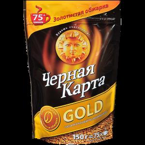 Кофе растворимый Черная Карта Gold 150г