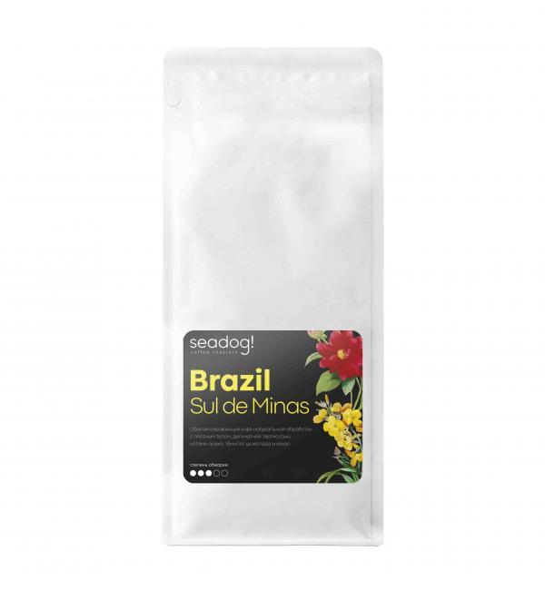 Кофе зерновой SEADOG COFFEE Brazil Sul De Minas Medium Roast 1кг