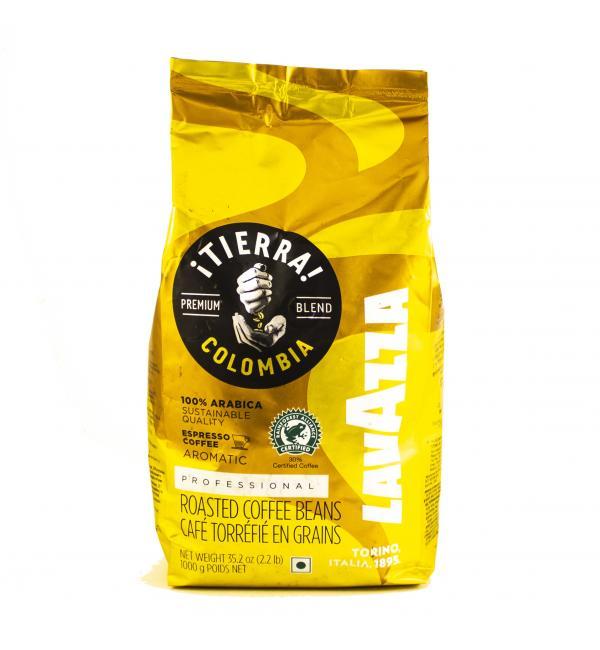 Кофе зерновой Lavazza Tierra Colombia 100% Arabica 1кг