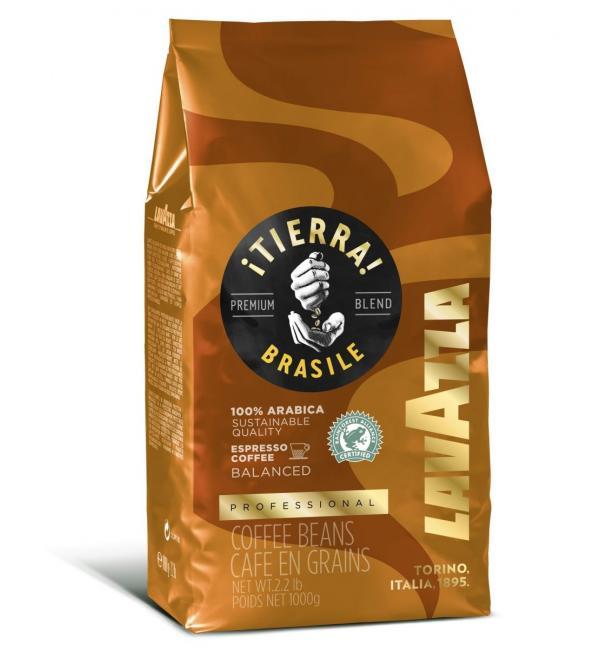 Кофе зерновой Lavazza Tierra Brazil 100% Arabica 1кг