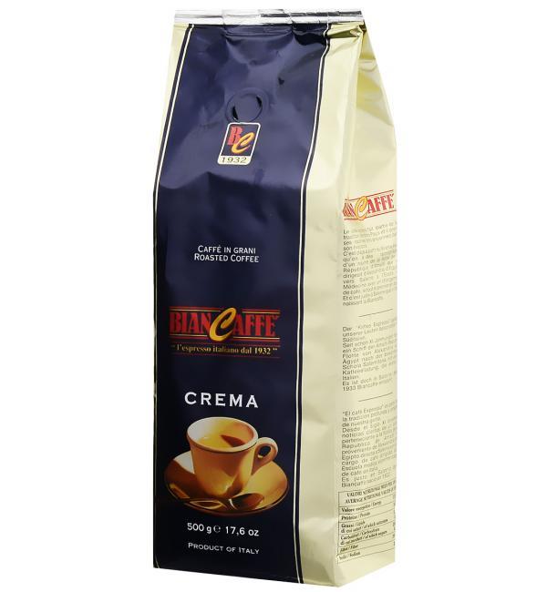 Кофе зерновой BIANCAFFE CREMA BUSTA BLU 500г