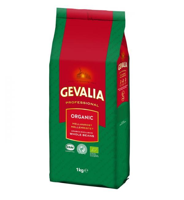 Кофе зерновой Gevalia Professional Organic Dark 1кг
