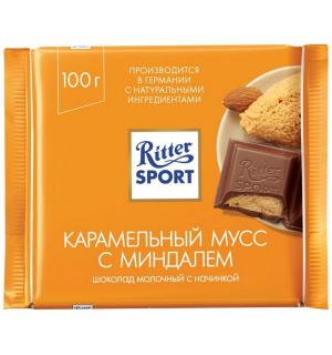 Шоколад Ritter Sport Карамельный мусс с миндалем 100г