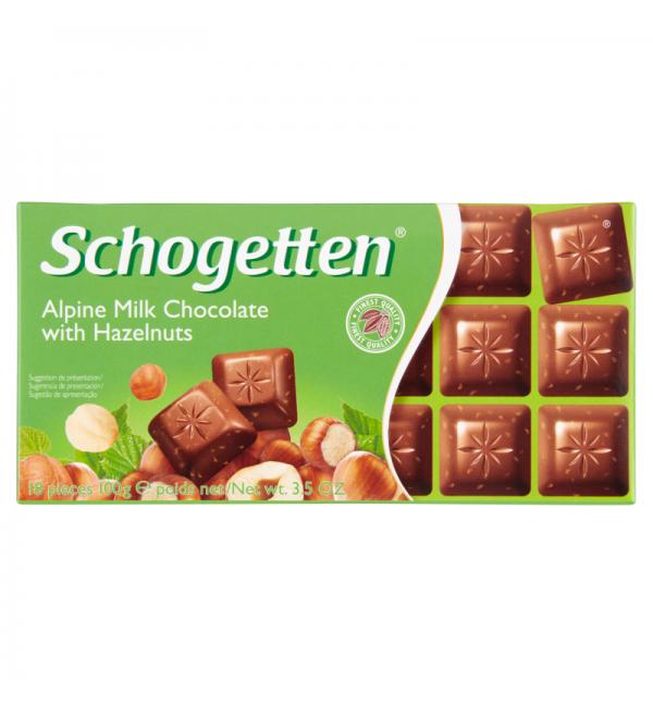 Шоколад Schogetten With Hazelnuts 100г