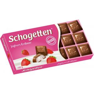 Шоколад Schogetten Yoghurt-strawberry 100г