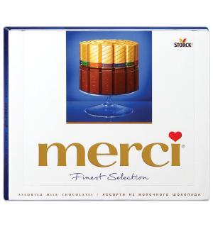 Шоколад MERCI ассорти Молочный шоколад 250г