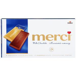 Шоколад MERCI молочный 100г