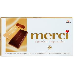 Шоколад MERCI кофейный 100г
