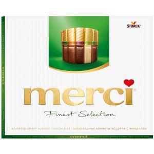 Шоколад MERCI Finest Selection миндальный 250г