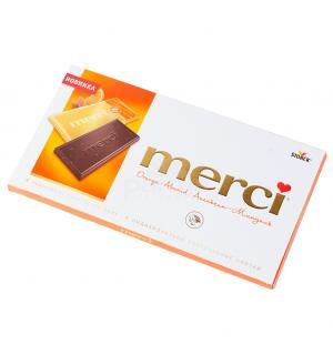 Шоколад MERCI апельсин и миндаль 100г