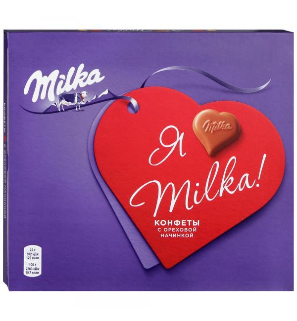 Конфеты Milka ореховая начинка 110г