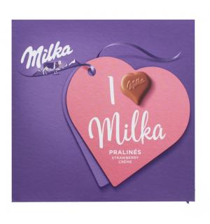Конфеты Milka клубничная начинка 110г