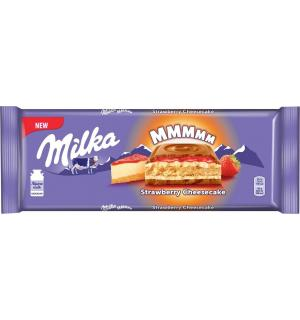 Шоколад Milka Strawberry Cheesecake 300г