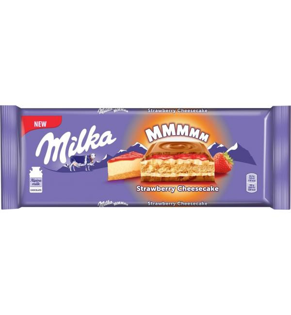 Шоколад Milka Strawberry Cheesecake 300г