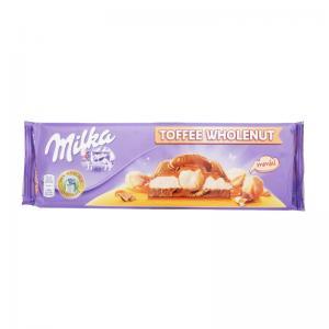 Шоколад Milka Wholenut Caramel 300г
