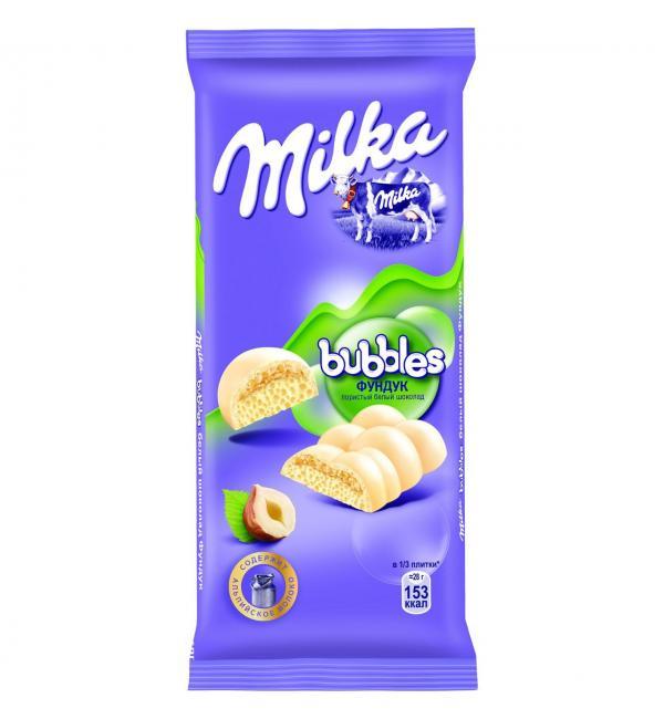 Шоколад Milka Bubbles Фундук 83г