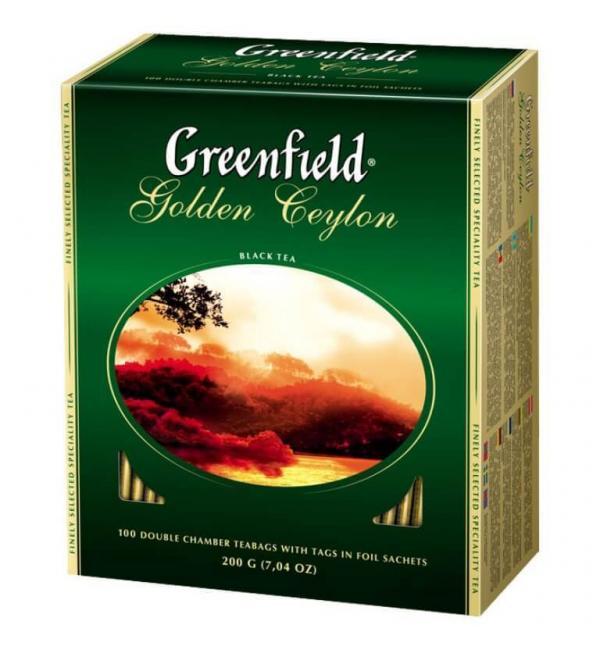 Чай черный Greenfield Golden Ceylon 200г (100 пак.)