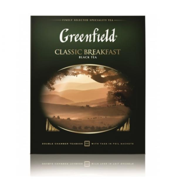 Чай черный Greenfield Classic Breakfast 200г (100 пак.)