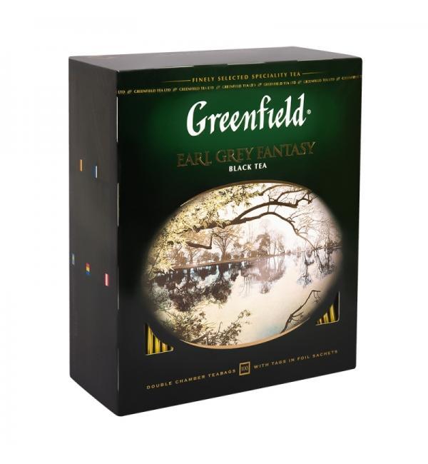 Чай черный Greenfield Earl Grey Fantasy 200г (100 пак.)