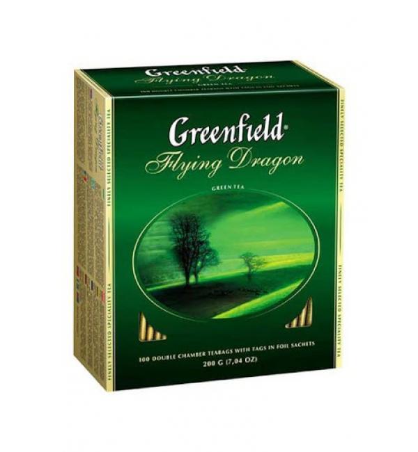 Чай зеленый Greenfield Flying Dragon 200г (100 пак.)