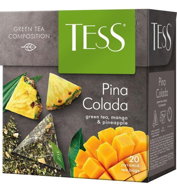 Чай зеленый Tess Pina Colada 36г (20 пак.)