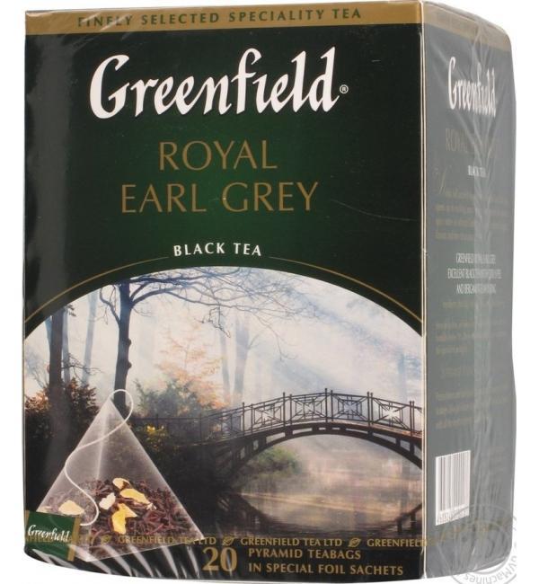 Чай черный Greenfield Royal Earl Grey 36г (20пак.)