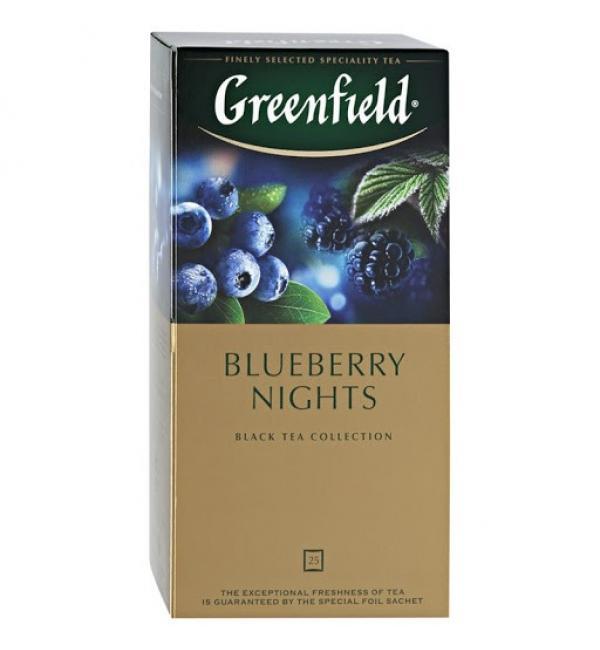 Чай черный Greenfield Blueberry nights 37,5г (25 пак.)