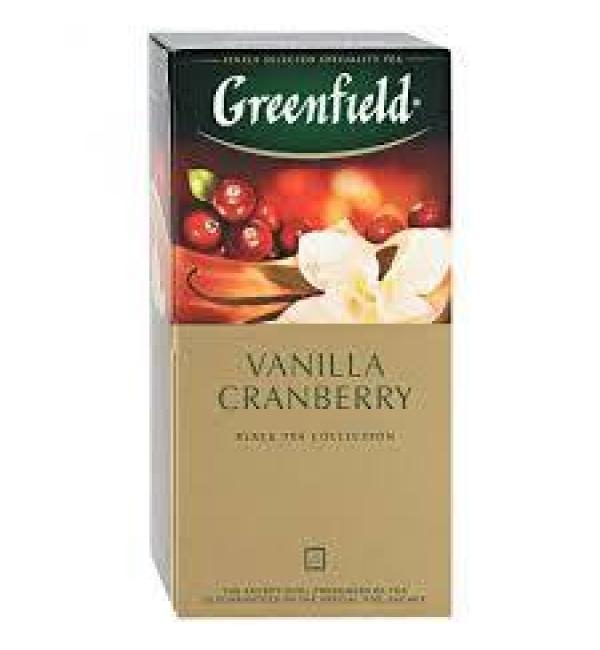 Чай черный Greenfield Vanilla Cranberry 37,5г (25 пак.)