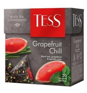 Чай черный Tess Grapefruit Chill 36г (20 пак.)