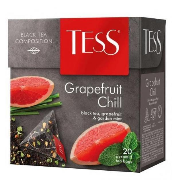 Чай черный Tess Grapefruit Chill 36г (20 пак.)