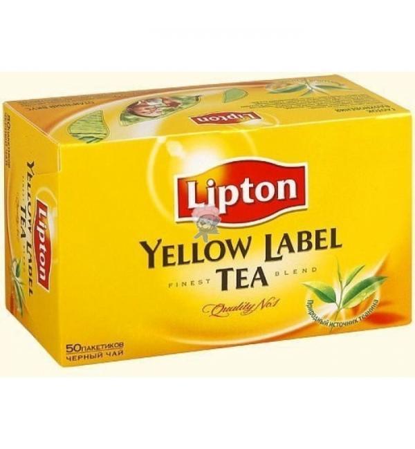 Чай черный Lipton Yellow Label 100г (50 пак.)