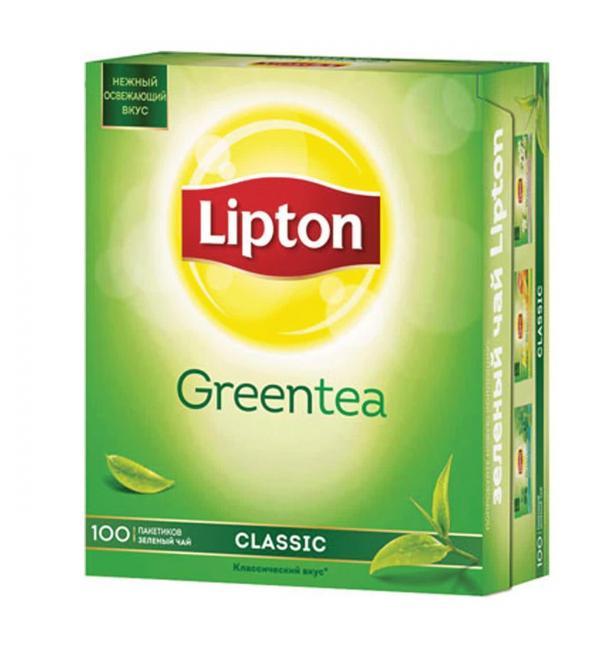 Чай зеленый Lipton Green 170г (100 пак.)