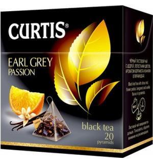 Чай черный CURTIS Earl Grey Passion 34г (20 пак.)
