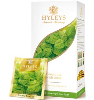 """Чай зеленый HYLEYS Гармония Природы """"С мятой"""" 37,5г (25пак.)"""