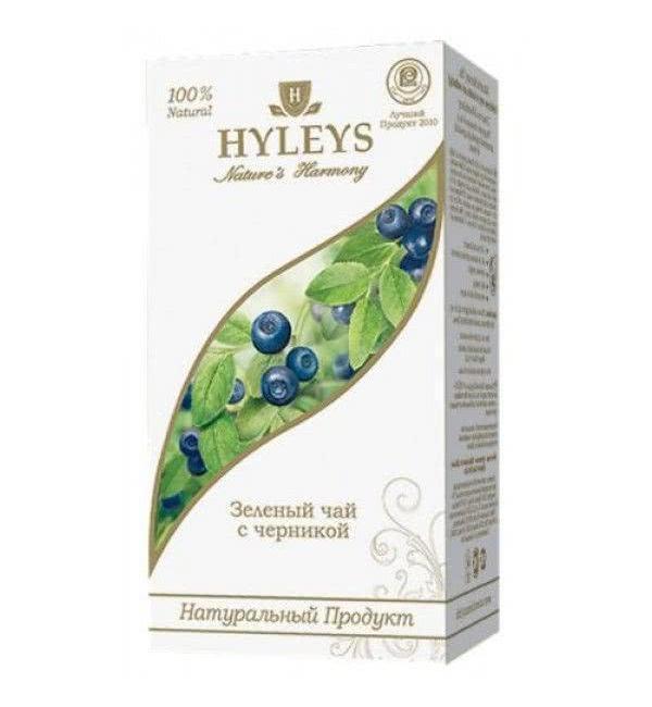 """Чай зеленый HYLEYS Гармония Природы """"С черникой"""" 37,5г (25пак.)"""