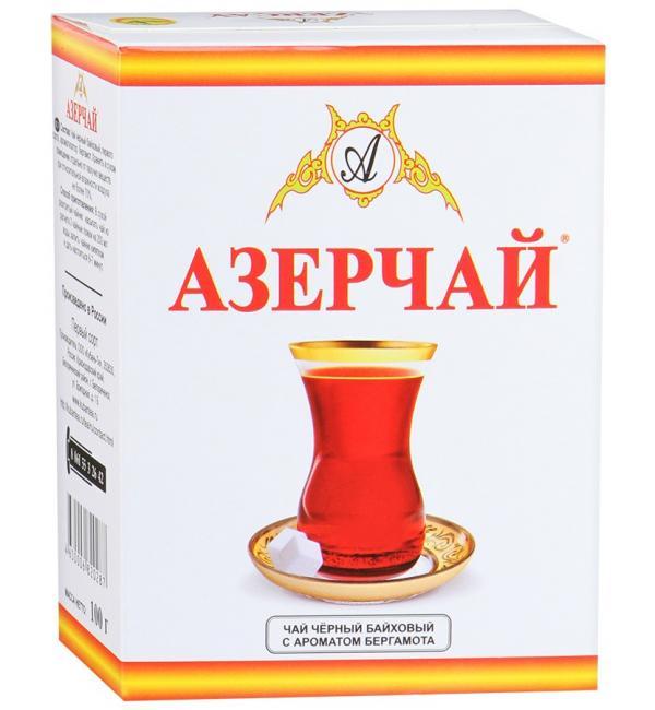 Чай черный Азерчай бергамот 100г