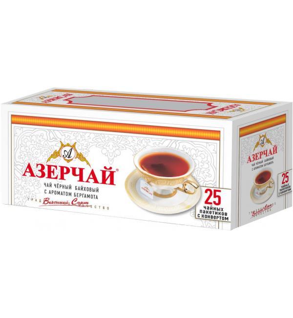 Чай черный Азерчай бергамот 50г (25 пак.)