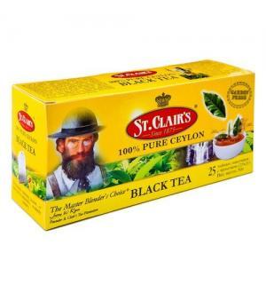 Чай черный St.Clairs Ceylon tea 50г (25 пак.)