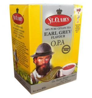 Чай черный St.Clairs Earl Grey O.P.A 100г