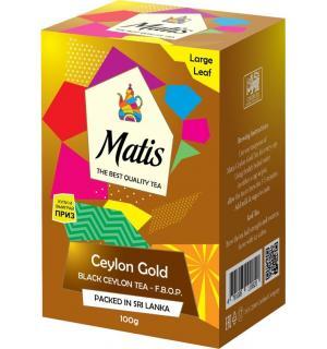 Чай черный Matis Ceylon Gold F.B.O.P. 100г