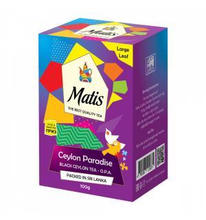 Чай черный Matis Ceylon Paradise O.P.A. 100г