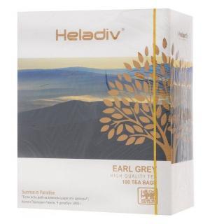 Чай черный HELADIV Earl Grey 200г (100 пак.)